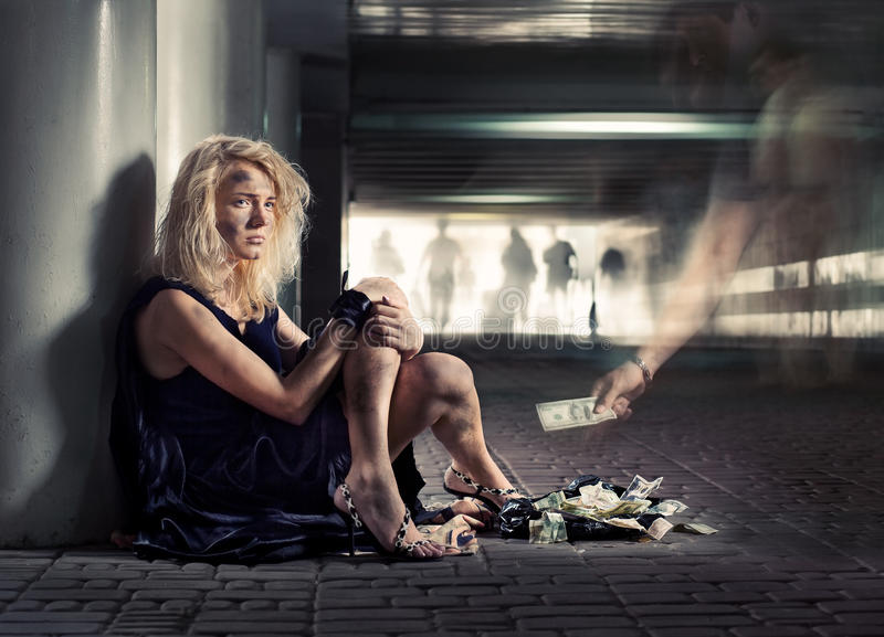 Mendiant de luxe photos libres de droits