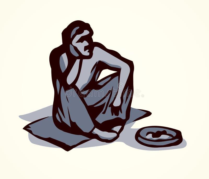 Mendiant Retrait de vecteur illustration stock