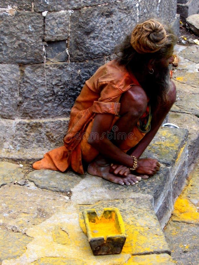 Mendiant Sadhu image libre de droits