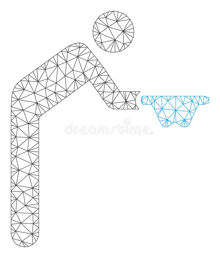 Mendiant Vector Mesh Network Model illustration de vecteur