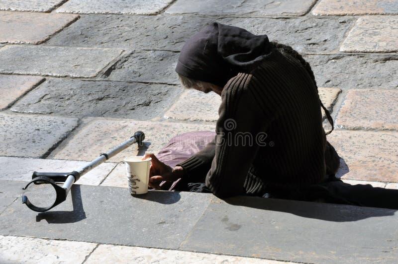 Mendicante della donna fotografia stock libera da diritti