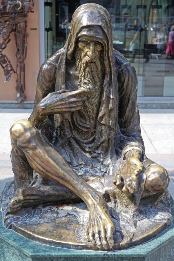 Mendicante Monument Skopje fotografie stock libere da diritti