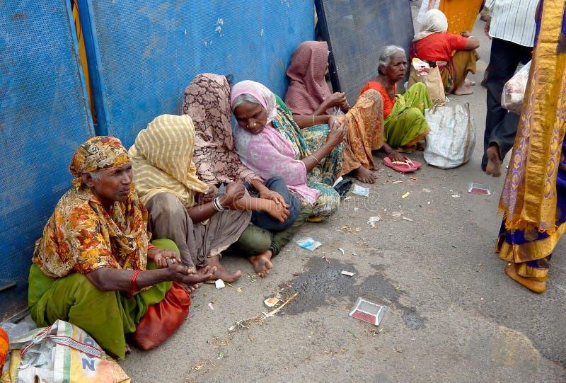 Mendicanti indiane della donna fotografia stock libera da diritti
