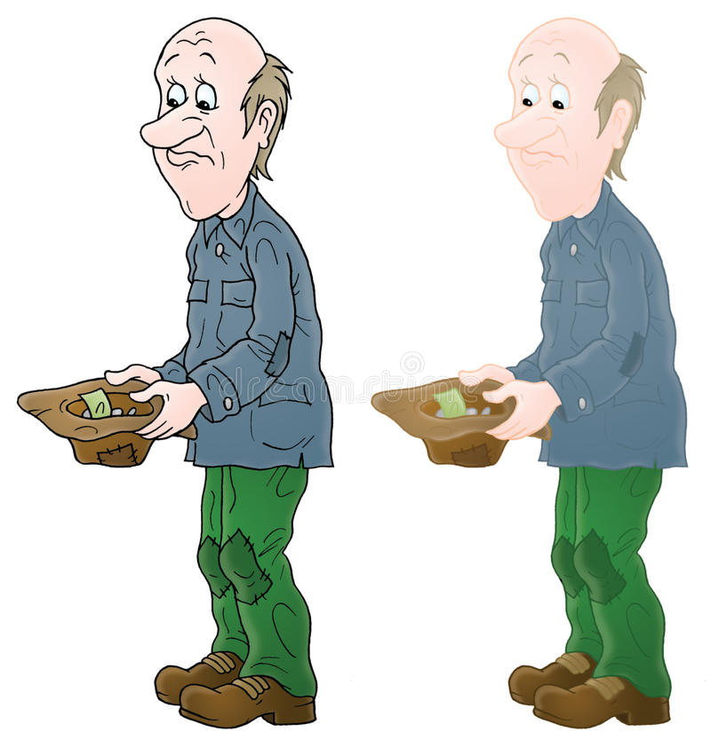 Mendigo ilustración del vector