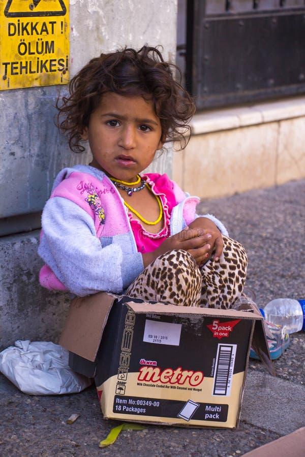 Mendigo Girl fotografía de archivo libre de regalías