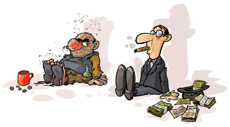 Mendigo pobre de Rich del mendigo libre illustration