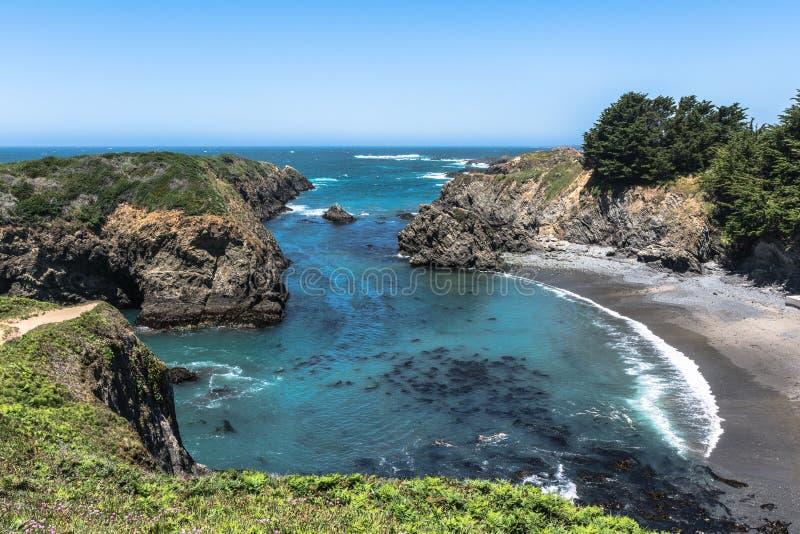 Mendocino小海湾,加利福尼亚 免版税库存照片