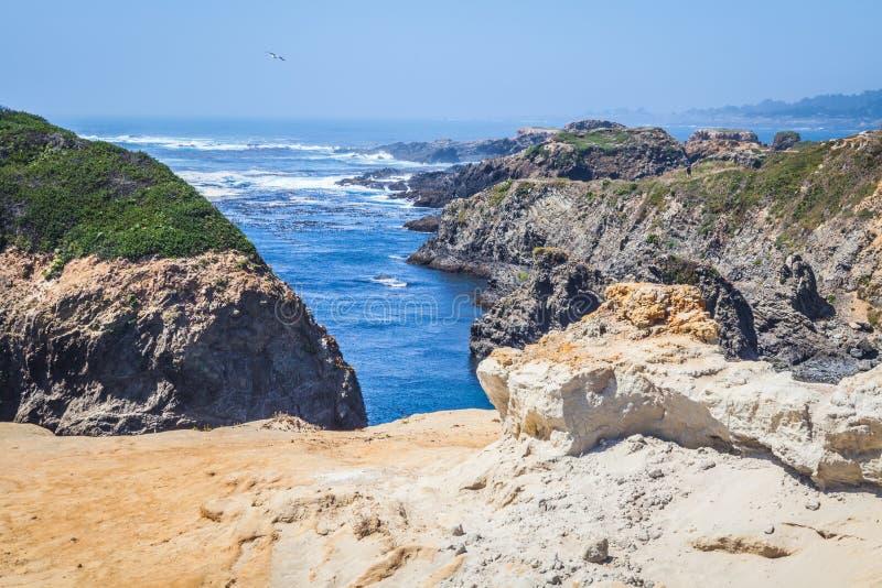 Mendocino海岸形成 图库摄影