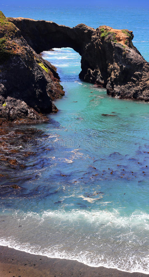 Mendocino海岸,太平洋 库存图片