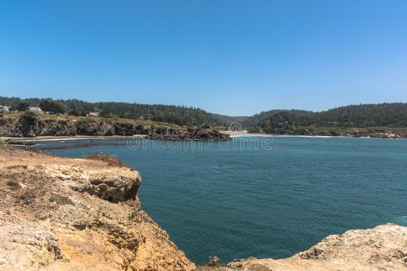 Mendocino,加利福尼亚海湾  库存图片