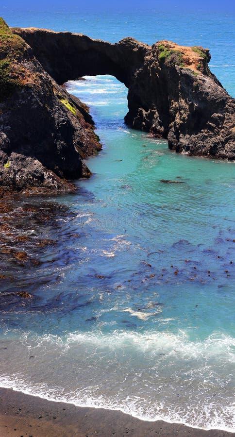 Mendocino-Küste, Pazifischer Ozean stockbild