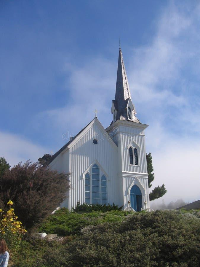 Mendocino Kirche stockfotos