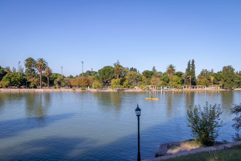 General San Martin Park Lake - Mendoza, Argentina. Mendoza, Argentina - Apr 19, 2018: General San Martin Park Lake - Mendoza, Argentina royalty free stock photography