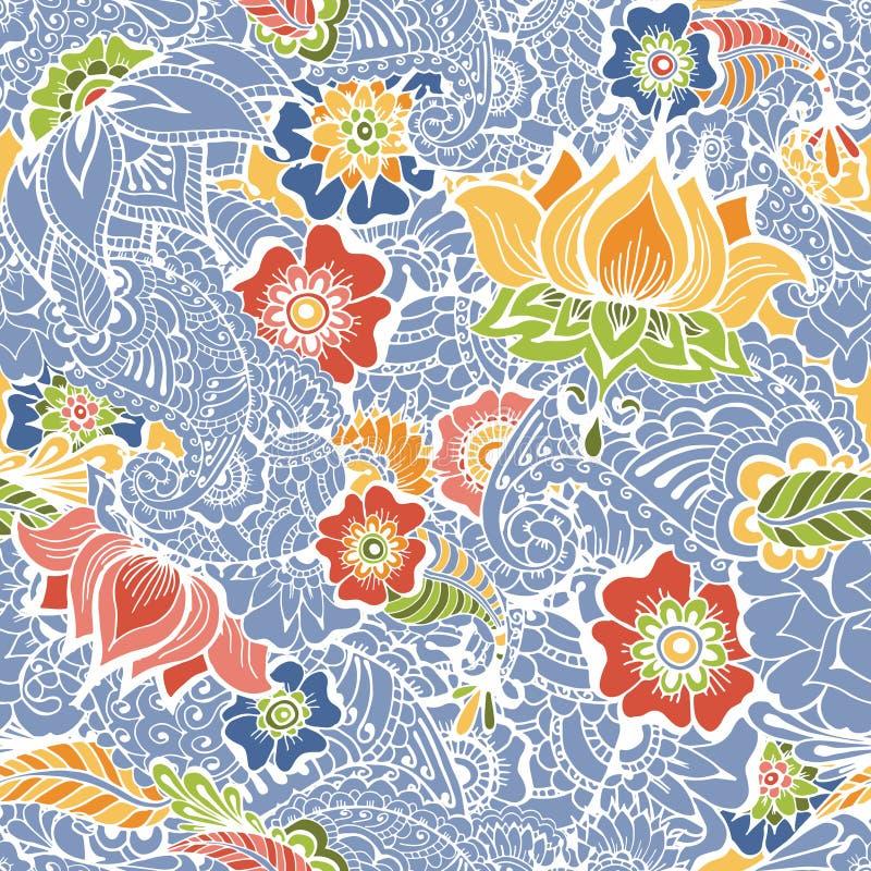 Mendy kwiatów wzór ilustracja wektor