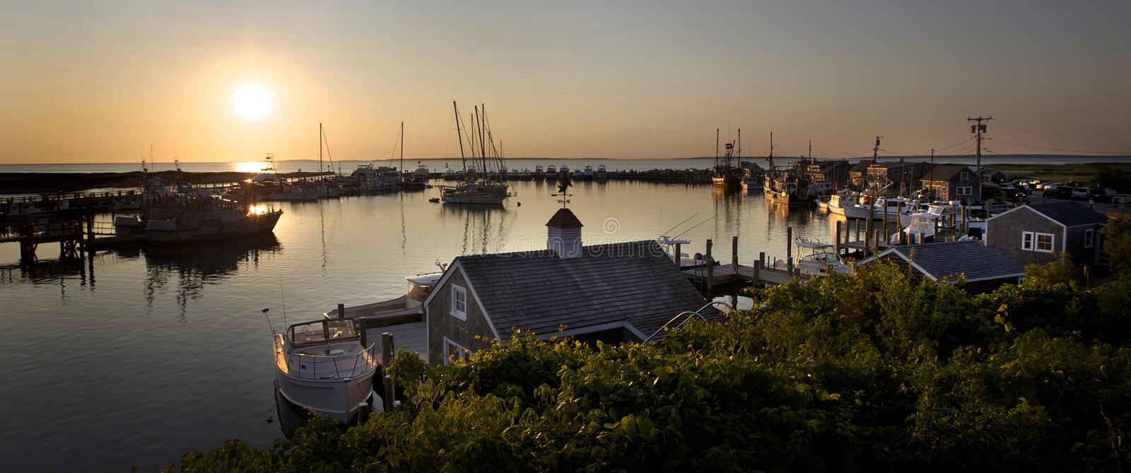 Menemsha Sunset stock photography