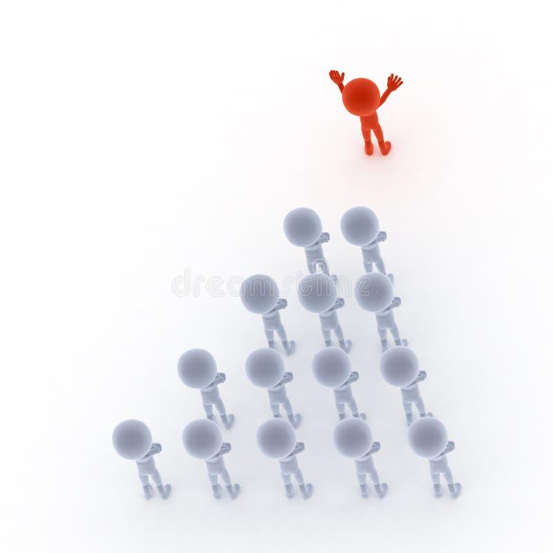 Meneur d'équipe et gens d'affaires illustration libre de droits