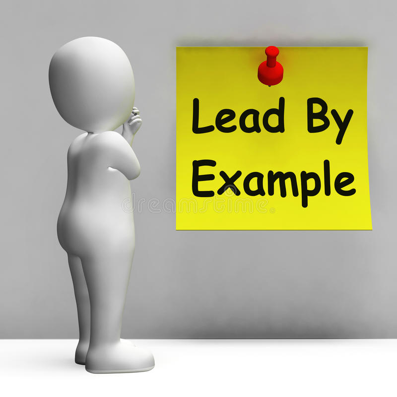 Menez par le mentor de moyens de note d'exemple et inspirez illustration stock