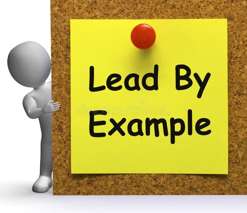 Menez par le mentor de moyens de note d'exemple ou inspirez illustration stock