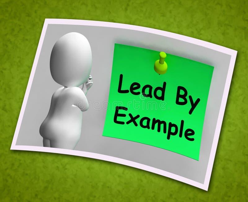 Menez par le mentor de moyens de photo d'exemple et inspirez illustration stock