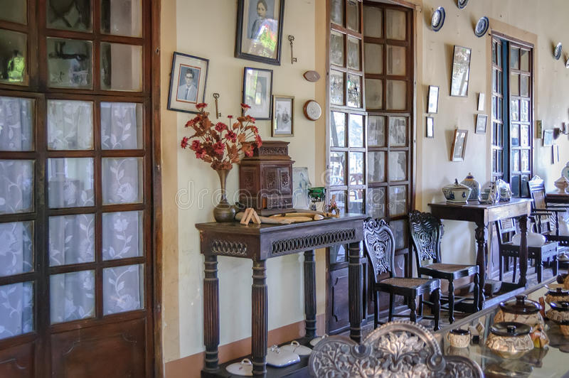 Menezes Braganza Pereira dom w Goa, India obrazy stock