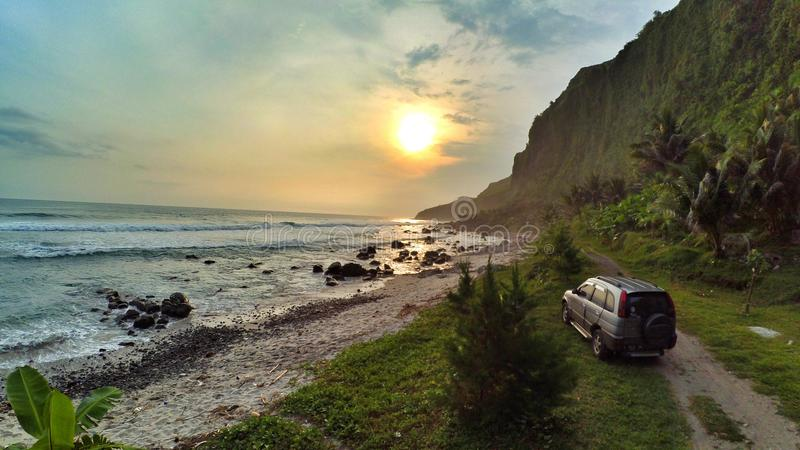 Menganti de Pantai, tengah de jawa, Indonésie images libres de droits