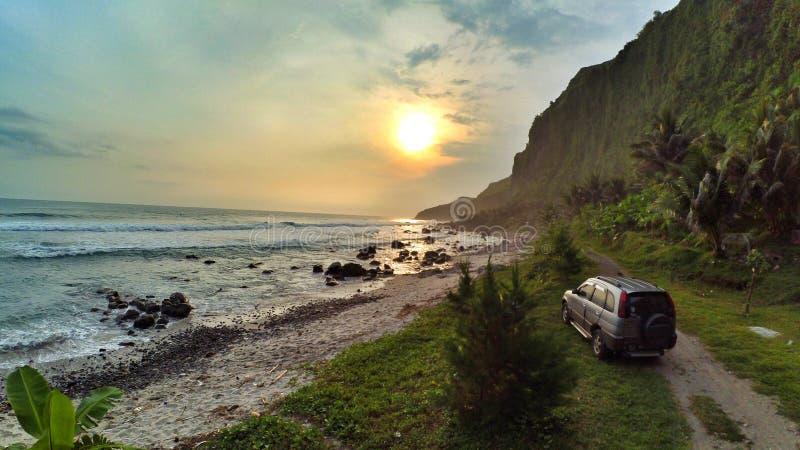 Menganti Pantai, tengah jawa, Индонезия стоковые изображения rf