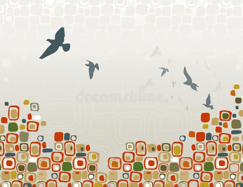 Menge des Vogel-Schattenbildes lizenzfreie abbildung