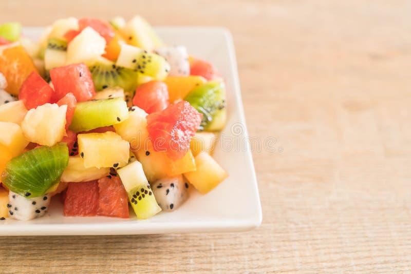 Mengeling Gesneden Vruchten stock afbeeldingen