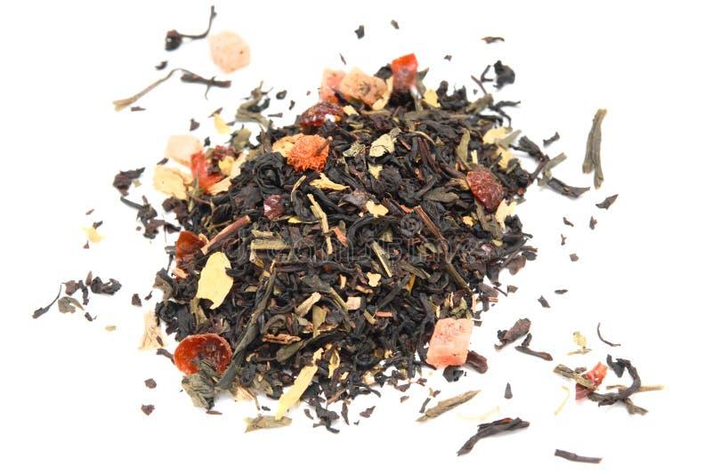 Mengeling van achter en groene thee stock afbeeldingen