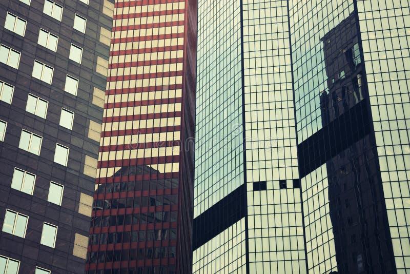 Mengeling van de moderne gebouwen van Pittsburgh stock afbeelding