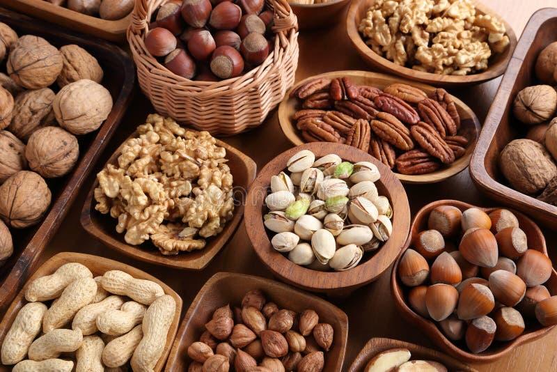 Mengeling van noten stock foto