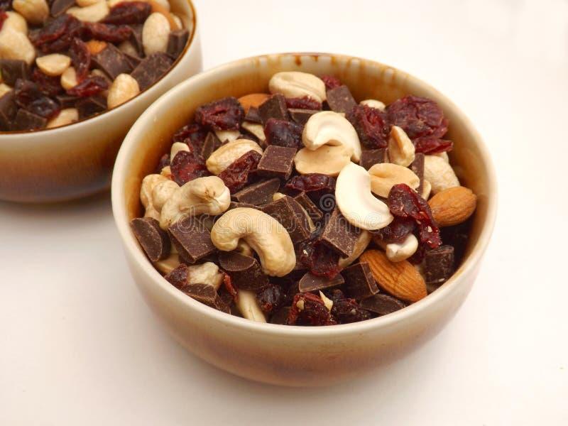 Mengeling van noten stock afbeelding