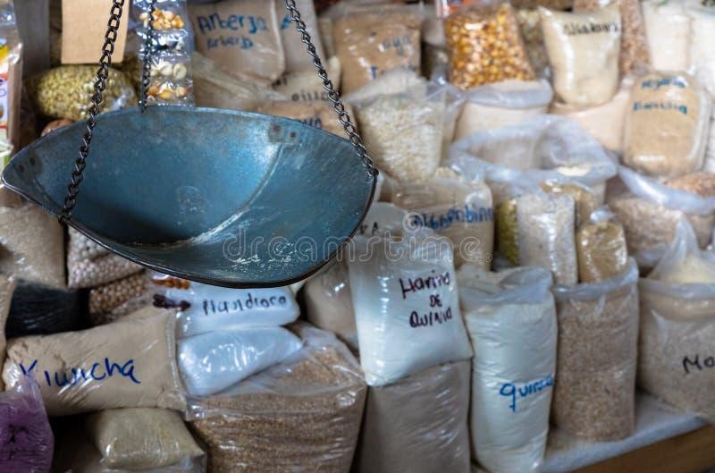 Mengeling van Peruviaanse graanbloem stock foto's