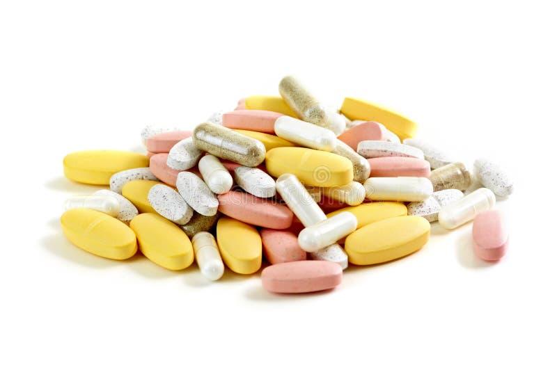 Mengeling van vitaminen stock afbeelding