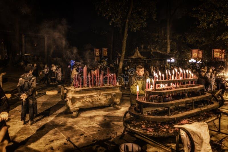 Mengen am Wenshu-Klostertempel stockbilder