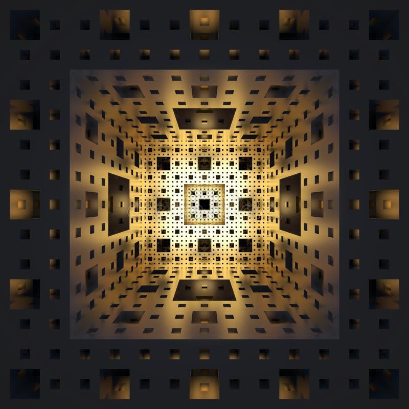 Menger Sponge Background stock illustration