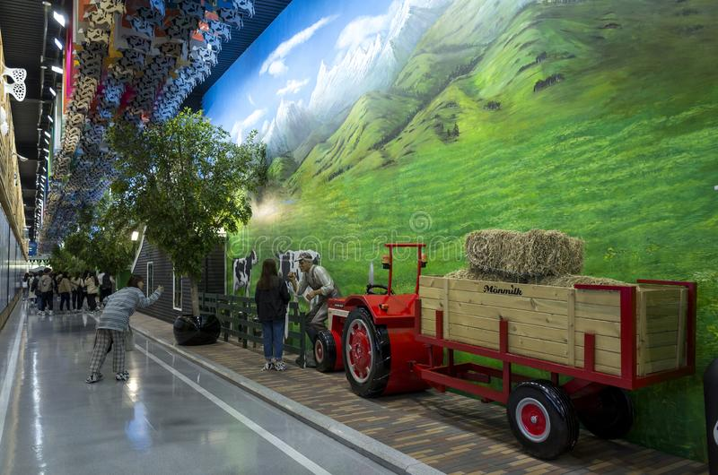 Mengniu Dairy Industry Phase 6 Factory Sightseeing Tour stock images