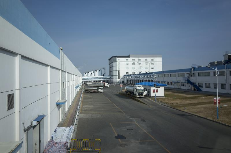 Mengniu Dairy Industry Phase 6 Factory Sightseeing Tour royalty free stock photography