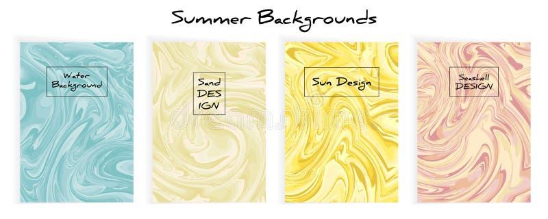 Mengsel van acrylverven Vloeibare marmeren textuur vector illustratie