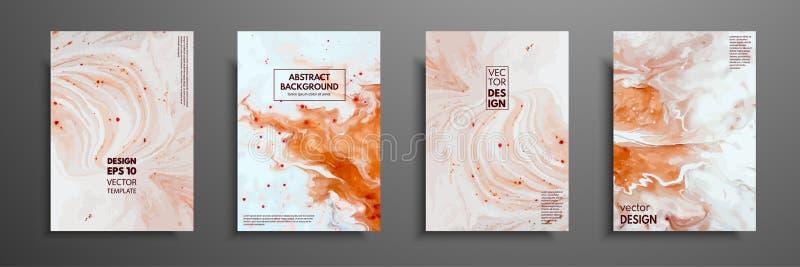 Mengsel van acrylverven Vloeibare marmeren textuur Vloeibaar art. Toepasselijk voor ontwerpdekking, presentatie, uitnodiging stock illustratie
