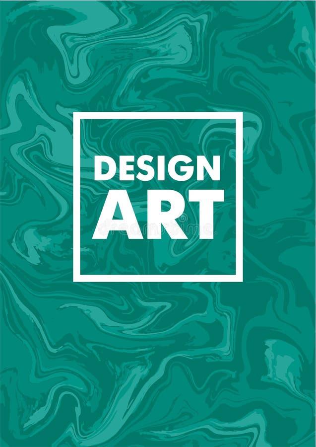 Mengsel van acrylverven Vloeibare marmeren textuur Vloeibaar art. Toepasselijk voor ontwerpdekking, presentatie, uitnodiging, jaa royalty-vrije illustratie