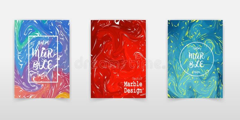 Mengsel van acrylverven Vloeibare marmeren textuur Vloeibaar art. Toepasselijk voor ontwerpdekking, presentatie, uitnodiging, jaa vector illustratie