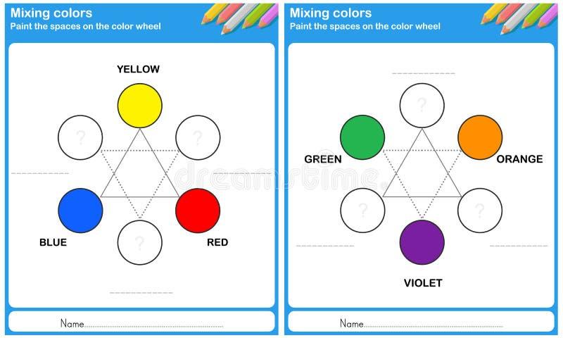 Mengt kleur - schilder de kleur stock illustratie