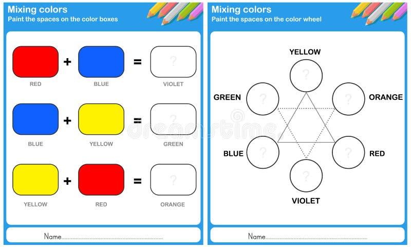 Mengt kleur - schilder de kleur vector illustratie