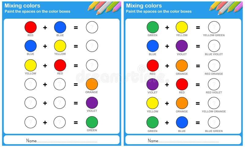 Mengt kleur - schilder de kleur royalty-vrije illustratie