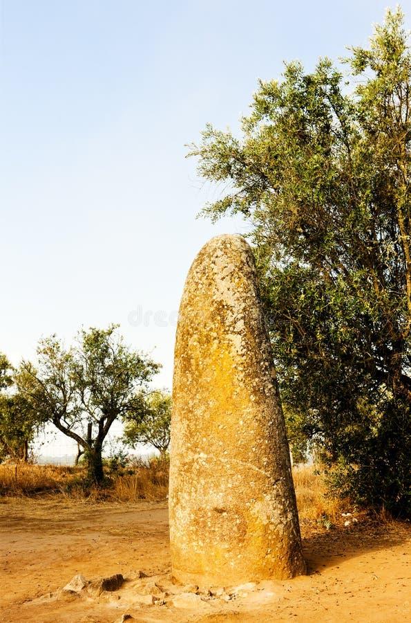 Menhir in Almendres stock images