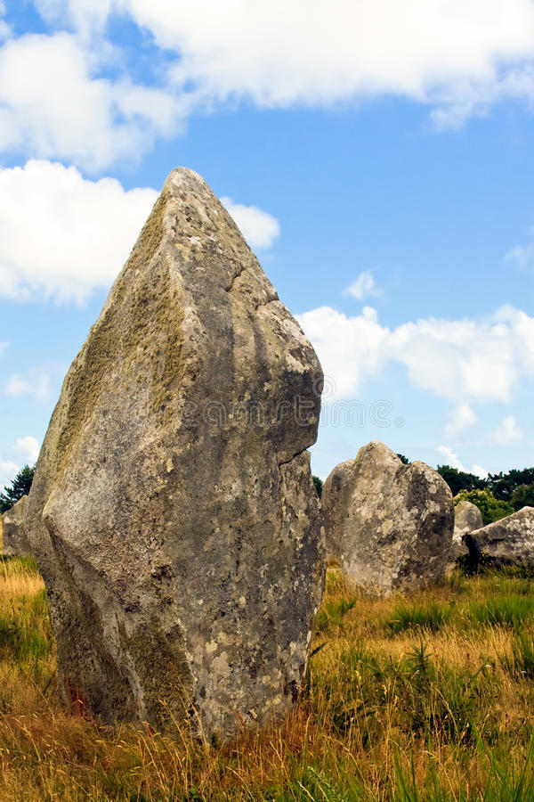 Menhir de Carnac fotos de stock royalty free