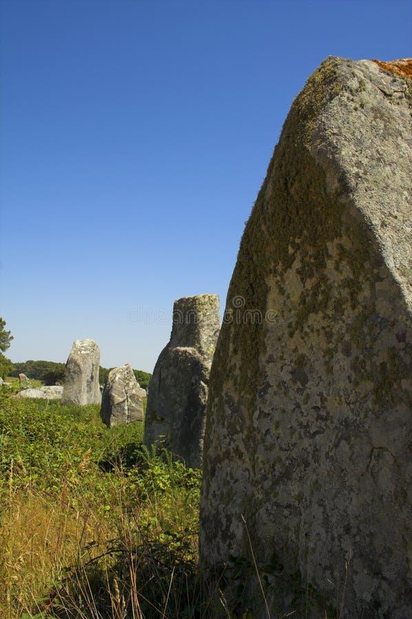 Menhir em Carnac-Brittany foto de stock royalty free