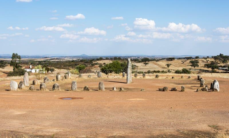 Menhir stones in Portugal royalty free stock photos