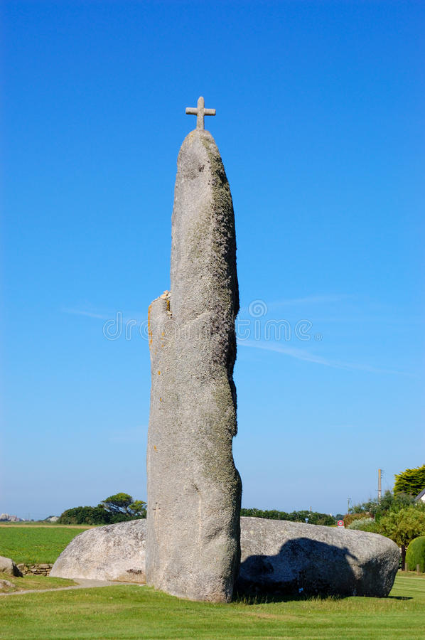 Menhir View, Brittany, France Stock Photography